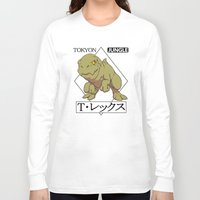t rex Long Sleeve T-shirts featuring T-rex by tokyon