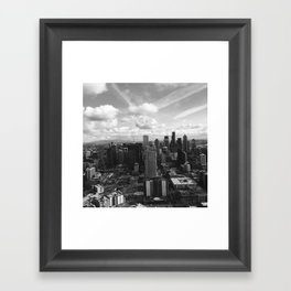 Crazy Skies of Seattle Framed Art Print