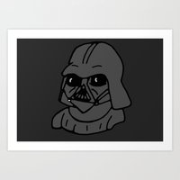 darth Art Prints featuring Darth by kaylieghkartoons