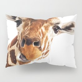 Giraffe Portrait // Wild Animal Cute Zoo Safari Madagascar Wildlife Nursery Decor Ideas Pillow Sham