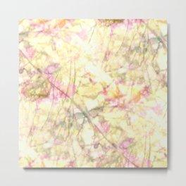 Floral illusions pattern - Fia Metal Print