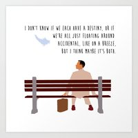 forrest gump Art Prints featuring Forrest Gump by Christina
