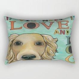 Love Dog Rectangular Pillow