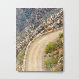 Tight bend in the Swartberg Pass in South Africa - Portrait Metal Print