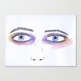 Two Black Eyes Canvas Print