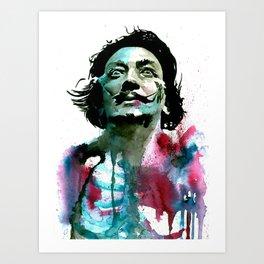 Watercolor Dali Art Print