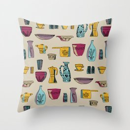 Kitchen Containers Throw Pillow