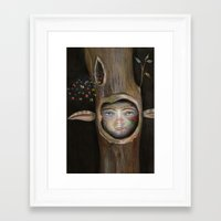 tree of life Framed Art Prints featuring Tree Life by Fizzyjinks
