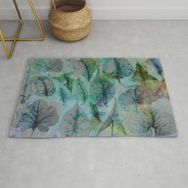 Cloud Forest Leaves Rug