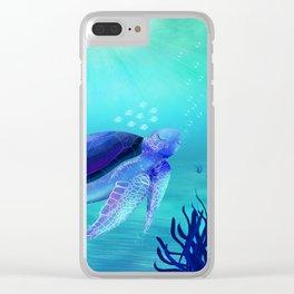 Underwater friends Clear iPhone Case