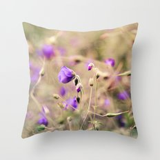 Purple Past Throw Pillow