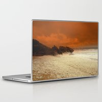 aelwen Laptop & iPad Skins featuring Sea Foam & Rough Seas by Chris' Landscape Images & Designs
