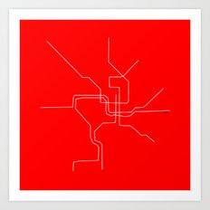 DC Metro Art Print