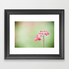 red and green Framed Art Print
