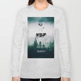 All lives matter go vegan Long Sleeve T-shirt