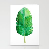 banana leaf Stationery Cards featuring Banana Leaf by Huckleberry Design Studio