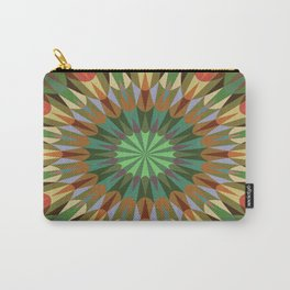 Earthy Retro Geometry #2 Carry-All Pouch