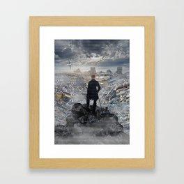 Wanderer above the Sea of Trash Framed Art Print