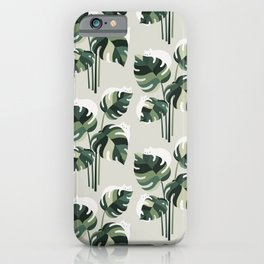 Cat and Plant 11 Pattern iPhone Case