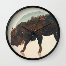 Veluwe: European Buffalo Wall Clock