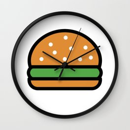Burger Lover Design Cute And Funny Food Gift Idea Wall Clock