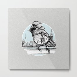 Berlin Sparrow Metal Print