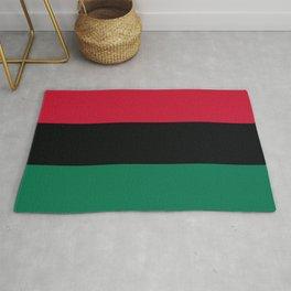 Afro-American / Pan-African / UNIA Flag Rug