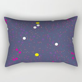 Chaotic circles pattern. Confetti #2 Rectangular Pillow