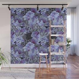 Indigo Bloom Wall Mural