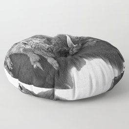 american buffalo Floor Pillow