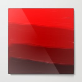Ombre in Red Metal Print