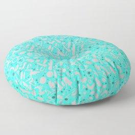NSFW Aqua Kinky S&M Pattern Floor Pillow