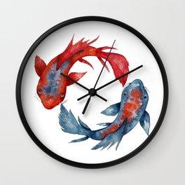 Yin Yang Koi Fish Wall Clock