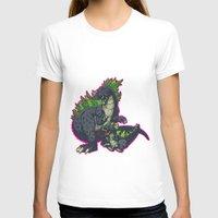 kaiju T-shirts featuring Kaiju Senior Kaiju Junior by firestarterdesign