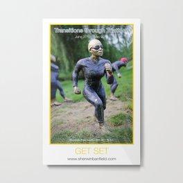 GET SET of Transitions through Triathlon Metal Print