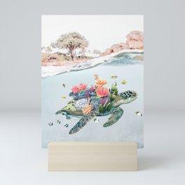 Coral Turtle • Save the Planet Mini Art Print