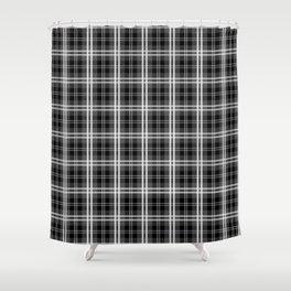 Classic Black and White Tartan Plaid Check Shower Curtain