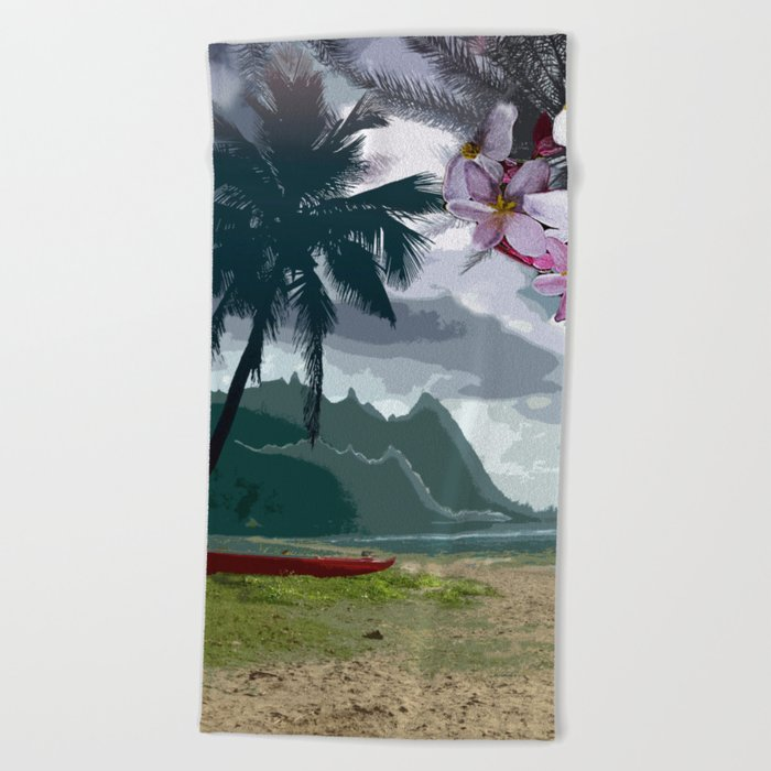 The Storm is Passing Beach Towel
