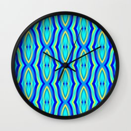 Aqua Arabesque Wall Clock