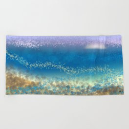 Abstract Seascape 03 wc Beach Towel