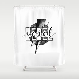 REBEL REBEL Shower Curtain