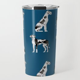 Great Dane harlequin coat dog breed gifts pet patterns for pure breed lovers Travel Mug