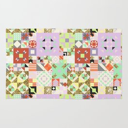 Geometric Quilt Pattern Rug