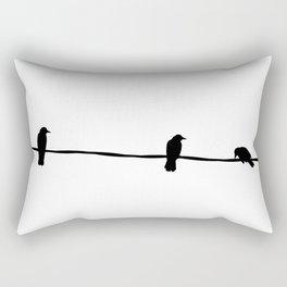 3 little birds Rectangular Pillow