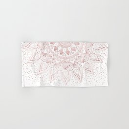 Elegant rose gold mandala confetti design Hand & Bath Towel