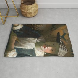 Johannes Vermeer - Girl with a Flute Rug