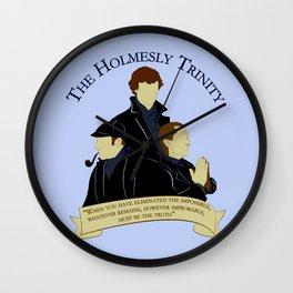 The Holmesly Trinity Wall Clock