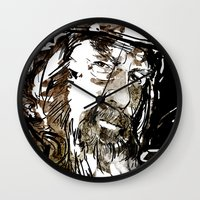 gandalf Wall Clocks featuring Gandalf by Patrick Scullin