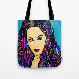 Beautiful Woman in Red Crazy In Love Tote Bag