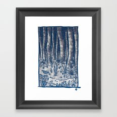 Oregon Forest Framed Art Print